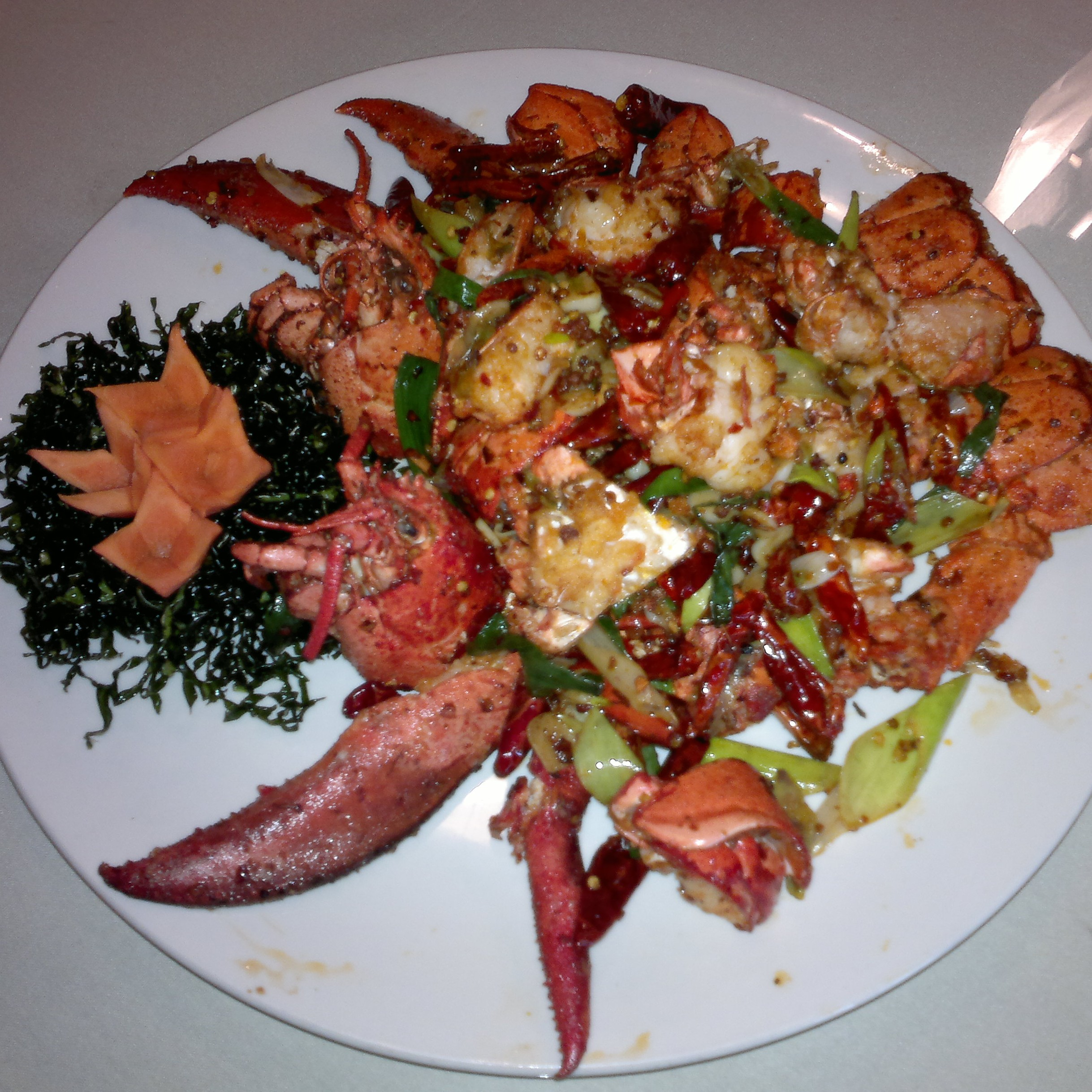 Live Lobster in Spicy Salt
