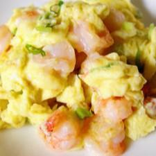 Stir Fried Egg with Shrimps