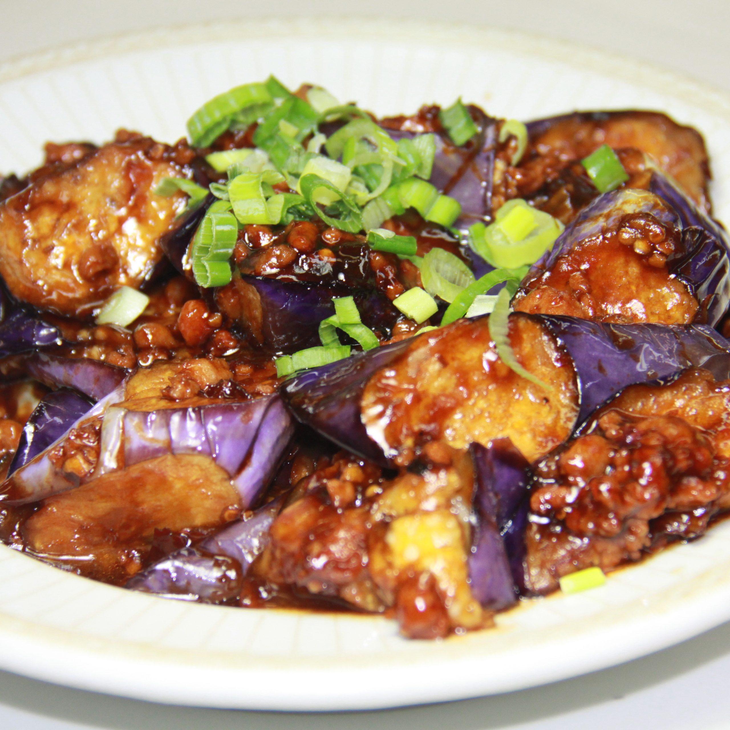 Eggplants in Chili Garlic Sauce(Pork)