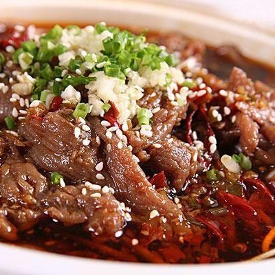 Sliced Beef in Hot Chili Oil