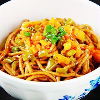 Noodles w/ Radish, Peanut, Sesame Sauce
