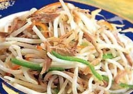 Duck Meat with Bean Sprouts