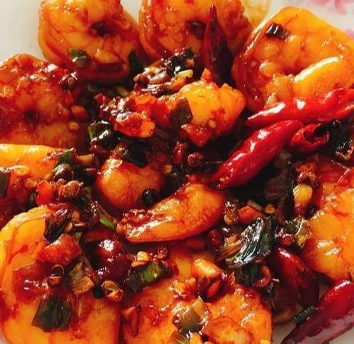 Shrimps in Chili & Garlic Sauce